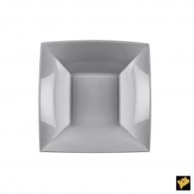 Plato de Plastico Hondo Gris Nice PP 180mm (25 Uds)