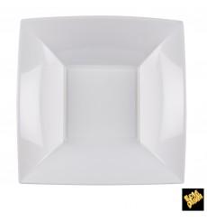 Plato de Plastico Hondo Cuadrado Plata 180mm (150 Uds)