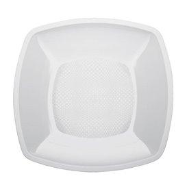 Plato de Plastico Liso Blanco 230mm (150 Uds)