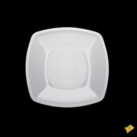 Plato de Plastico Liso Blanco 180mm (150 Uds)