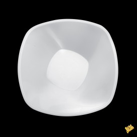 Bol de Plastico Blanco Square PP Ø210mm 1250ml (3 Uds)
