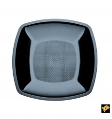 Plato de Plastico Liso Blanco 230mm (25 Uds)