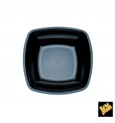 Plato de Plastico Hondo Negro 180mm (150 Uds)