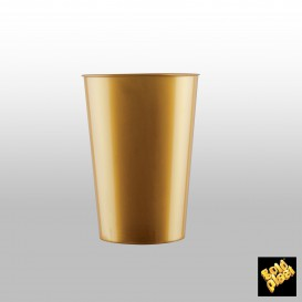Vaso de Plastico Moon Oro PS 200ml (35 Uds)