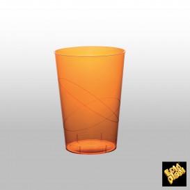 Vaso de Plastico Moon Naranja Transp. PS 230ml (500 Uds)