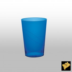Vaso de Plastico Moon Azul Transp. PS 230ml (50 Uds)