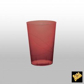 Vaso de Plastico Moon Burdeos Transp. PS 200ml (50 Uds)