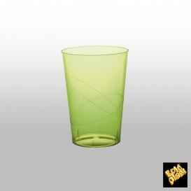 Vaso de Plastico Moon Verde Lima Transp. PS 230ml (500 Uds)
