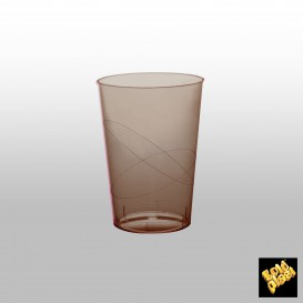 Vaso de Plastico Moon Marron Transp. PS 200ml (50 Uds)