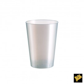 Vaso de Plastico Moon Blanco Pearl PS 200ml (50 Uds)