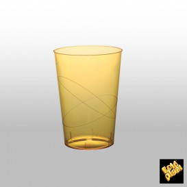 Vaso de Plastico Moon Amarillo Transp. PS 230ml (500 Uds)