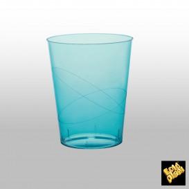 Vaso de Plastico Moon Turquesa Transp. PS 320ml (20 Uds)