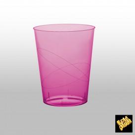 Vaso de Plastico Moon Fucsia Transp. PS 320ml (20 Uds)