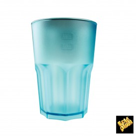 Vaso de Plastico Frost Turquesa Transp. SAN 400ml (5 Uds)