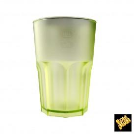 Vaso de Plastico Frost Verde Lima Transp. SAN 400ml (5 Uds)