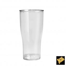 Vaso Plastico para Cerveza Transp. SAN Ø80mm 400ml (80 Uds)