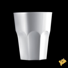 Vaso de Plastico Blanco SAN Ø85mm 300ml (120 Uds)