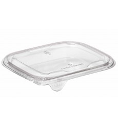 Tapa Plana Plástico para Ensaladera PET 12x12cm (1000 Uds)