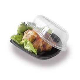 Envase Plastico para Pollo con Tapa (50 Uds)