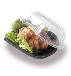 Envase para pollo con tapa (Paquete 50 unidades)