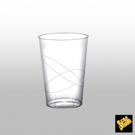 Vaso de Plastico Moon Transparente PS 200ml (50 Uds)