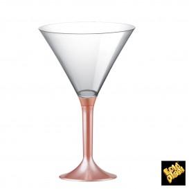 Copa de Plastico Cocktail con Pie Melocoton Perlado 185ml (20 Uds)