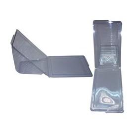 Envase de plastico Sandwich Cuatro 18,5x11,0x8,9cm (50 Uds)