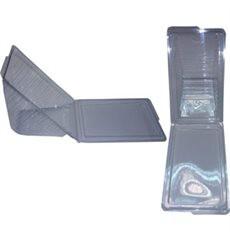 Envase de plastico Sandwich CUATRO  (Paquete 50 unidades)