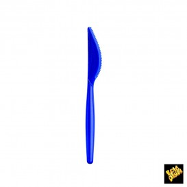 Cuchillo de Plastico Easy PS Azul Perlado 185mm (240 Uds)