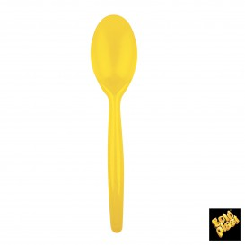 Cuchara de Plastico Easy PS Amarillo 185 mm (20 Uds)