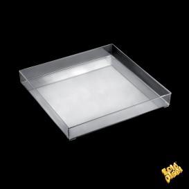 Bandeja Plastico Tray Transparente 30x30cm (1 Uds)