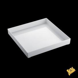 Bandeja Plastico Tray Blanca 30x30cm (9 Uds)