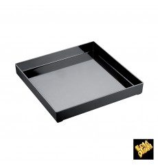 Bandeja Plastico Tray Negraa 30x30cm (1 Uds)