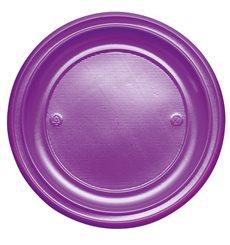 Plato de Plastico Llano Violeta PS 220mm (780 Uds)