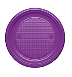 Plato de Plastico Llano Violeta PS 170mm (1100 Uds)