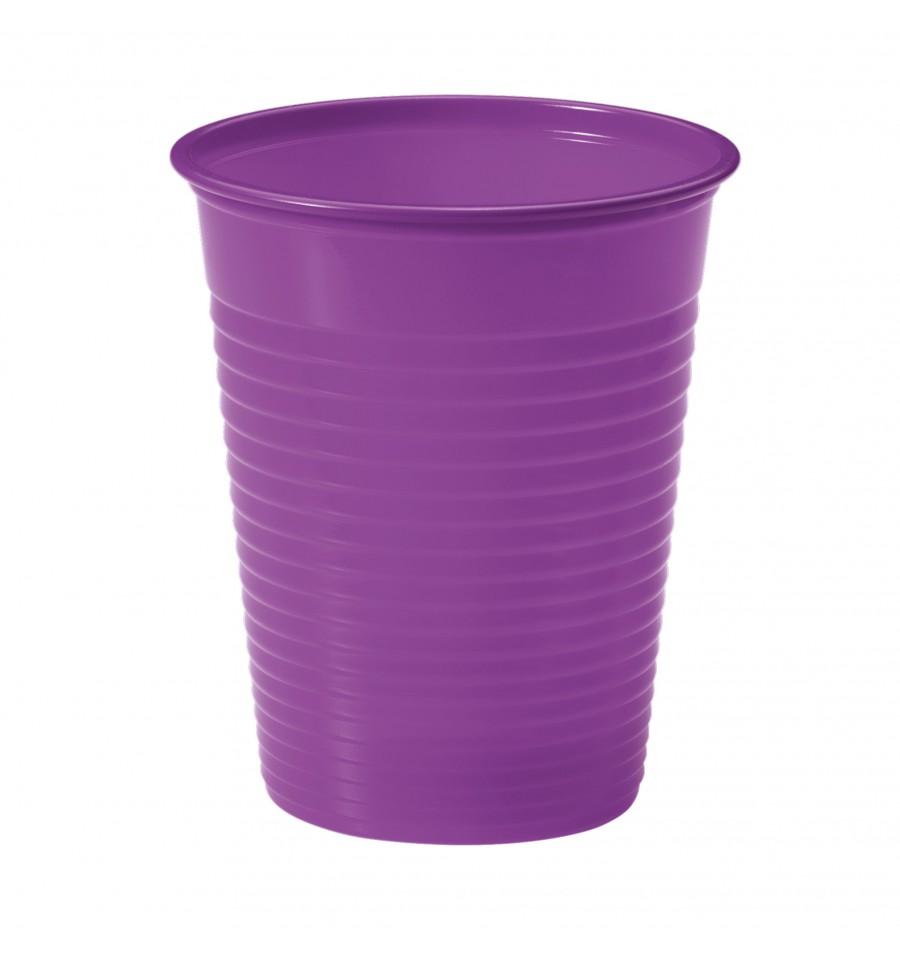Vaso de plastico ps violeta 200ml 7cm 50 uds - Vasos de colores ...