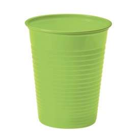 Vaso de Plastico PS Verde Lima 200ml Ø7cm (50 Uds)
