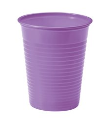 Vaso de Plastico Lila PS 200ml (1500 Uds)
