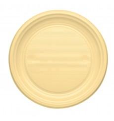 Plato de Plastico Llano Crema PS 170mm (50 Uds)