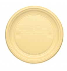 Plato de Plastico Llano Crema PS 170mm (1100 Uds)