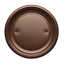 Plato de Plastico PS Llano Chocolate Ø170mm (1100 Uds)