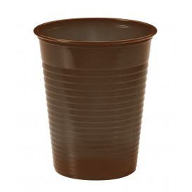Vaso de Plastico PS Chocolate 200ml Ø7cm (50 Uds)