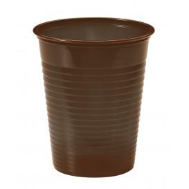 Vaso de Plastico PS Chocolate 200ml Ø7cm (50 Uds)