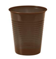 Vaso de Plastico Marrón PS 200ml (1500 Uds)