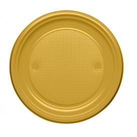 Plato de Plastico PS Llano Oro Ø170mm (1100 Uds)