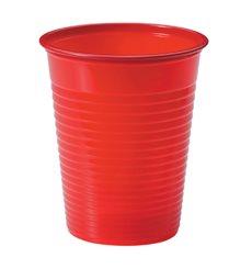 Vaso de Plastico Rojo PS 200ml (1500 Uds)