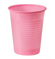 Vaso de Plastico Rosa PS 200ml (1500 Uds)