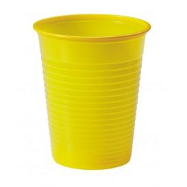Vaso de Plastico PS Amarillo 200ml Ø7cm (50 Uds)