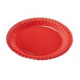 "Plato de Carton Redondo ""Party"" Rojo 180mm (300 Uds)"