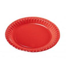 Plato de Carton Redondo Rojo 180mm (300 Uds)